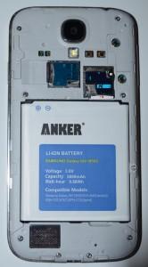 La batterie Anker dans le Galaxy S4