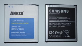 La batterie Anker et la batterie Samsung d'origine