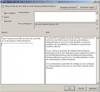 Internet Explorer 11 : Mode Entreprise