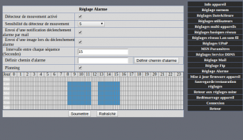 CAMH07IPWI : interface Web