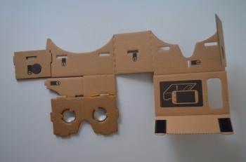 Cardboard VR DIY Toolkit : ouverture de l'emballage