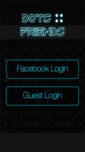 Dots 4 Friends : écran de login
