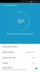 Application MiBand