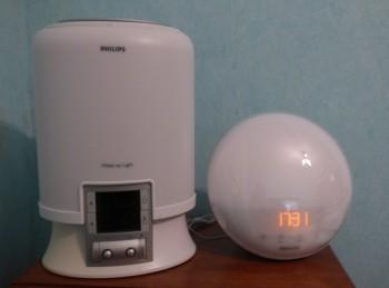 Philips HF3520 : le réveil à côté de l'ancienne version