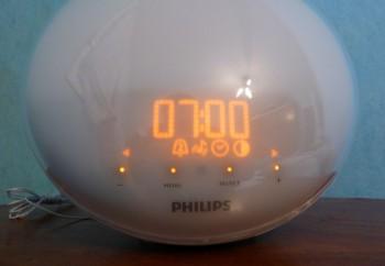 Philips HF3520 : menu du reveil