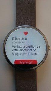 Moto 360 : application rythme cardiaque