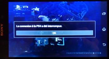 Playstation 4 : déport d'affichage sur smartphone