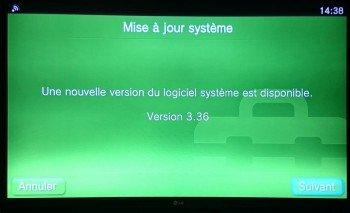 Mise à jour système du PS TV