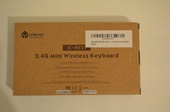 La boite du clavier sans fil iClever