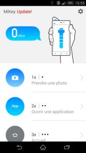 Le paramétrage des actions du MiKey de Xiaomi