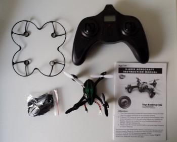 Nano drone H108C : contenu de la boîte