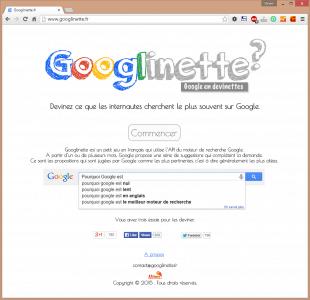 Page d'accueil du site Googlinette