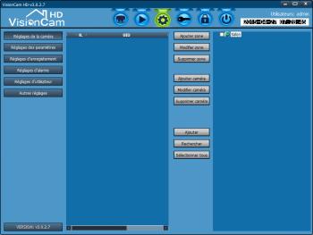 L'ajout de caméras se fait dans le menu paramètres