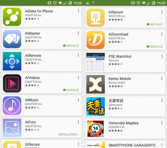 Les applications Android pour les NAS Asustor