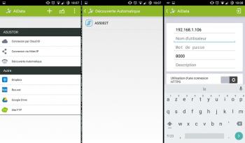 Connexion AiData par Cloud ID, par adresse IP ou par détection automatique