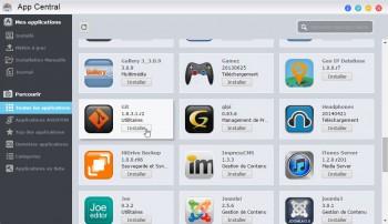 AppCentral : cliquez simplement sur Installer