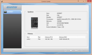 L'application permet de détecter les NAS Asustor présents sur le réseau local