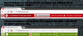 Igraal propose des plugins simples pour les navigateurs (ici Google Chrome)