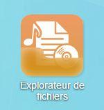 L'icône Explorateur de fichiers sur le bureau de votre NAS Asustor