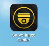 L'icône Surveillance Center sur le bureau de votre NAS Asustor