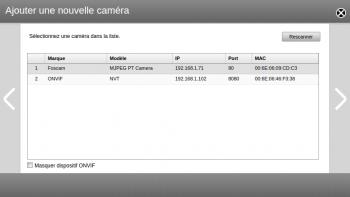 Surveillance Center scanne votre réseau pour trouver vos caméras