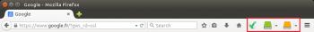 Antidote s'intègre dans la barre de menu de Firefox