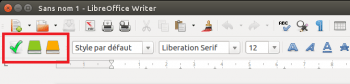 Antidote s'intègre dans la barre deraccourcis de LibreOffice