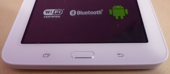 Les boutons sur le devant de la tablette