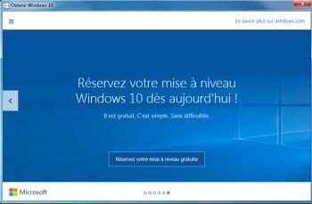 Cliquez simplement sur le bouton pour réserver la mise à jour Windows 10