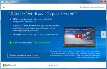 Explications de Microsoft sur les avantages de la mise à jour Windows 10