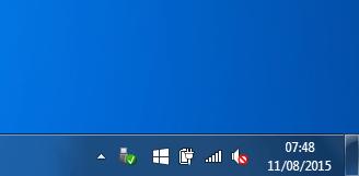 L'icone Windows 10 près de l'horloge permet d'obtenir la mise à jour