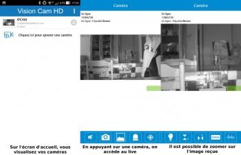 Accédez à vos caméras avec l'application smartphone et tablette
