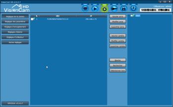 Détection des caméras IP Heden présentes sur le réseau avec VisionCam HD