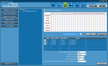 Les paramètres d'enregistrement depuis le logiciel PC VisionCam HD