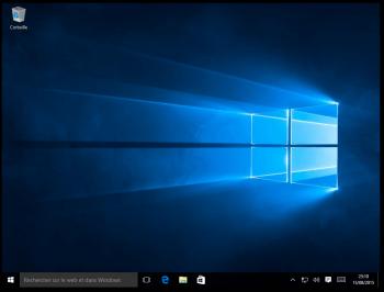 Démarrage et paramétrage terminés : Windows est prêt.