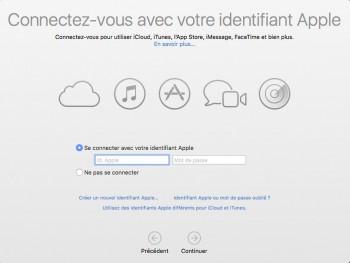 Si nécessaire, saisissez vos identifiants Apple