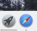 Vous pouvez voir l'avancement du téléchargement  à travers l'icône Launchpad du dock