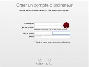 Etape 16 : création d'un utilisateur