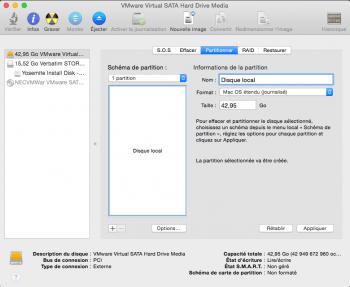 Etape 6 : Le disque dur est partitionné et prêt pour l'installation