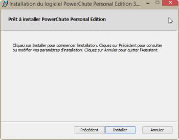 Cliquez sur Installer pour lancer l'installation