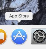 L'icône App Store dans le dock