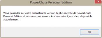 Au lancement, PowerChute vérifie les éventuelles mises-à-jour