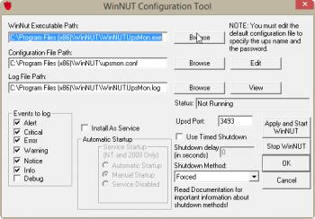 Configuration du logiciel WinNUT