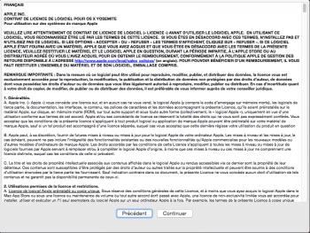Etape 8 : contrat de licence