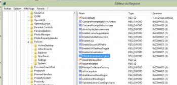 Modifiez la valeur de FilterAdministratorToken à 0