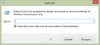 La fenêtre Exécuter permet de voir si l'UAC est actif