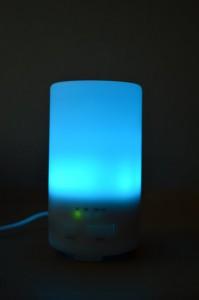 En fonctionnement, avec LED bleue