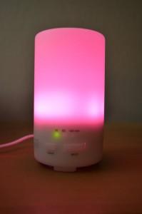En fonctionnement, avec LED rose