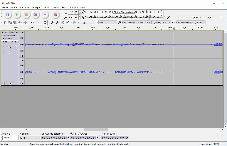 Voici le résultat après réduction du bruit