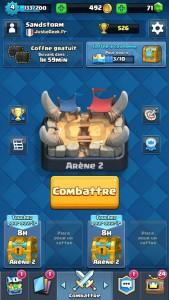 L'écran principal du jeu